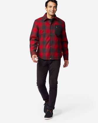 ALTERNATE VIEW OF MEN'S CONWAY ACCENT POCKET JACKET IN RED OMBRE