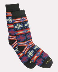 PUEBLO CROSS CREW SOCKS, BLACK, large