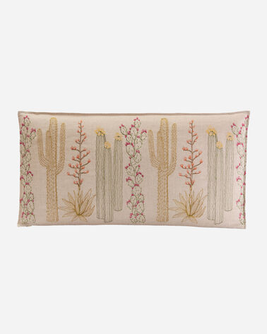 CACTI LUMBAR PILLOW IN NATURAL LINEN