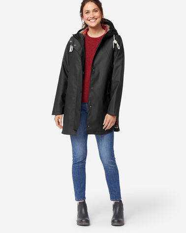 WOMEN'S NEWPORT WATERPROOF RAIN JACKET IN BLACK