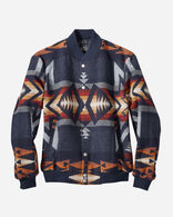 MEN'S GORGE SNAP-FRONT WOOL JACKET IN NAVY PLAINS STAR