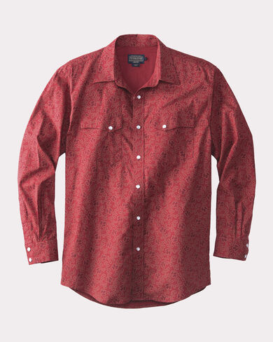 FITTED GAMBLER WESTERN SHIRT, , large