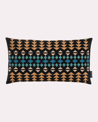 RANCHO ARROYO OBLONG EMBROIDERED PILLOW, BLACK MULTI, large