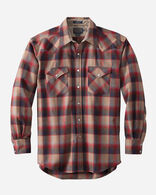 MEN'S SNAP-FRONT WESTERN CANYON SHIRT IN RED/TAN OMBRE