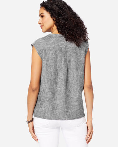 WOMEN'S SLEEVELESS LINEN SHIRT