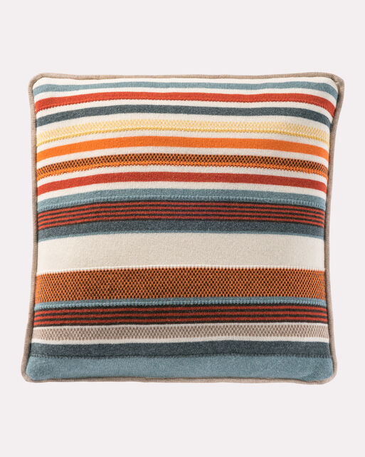 CHIMAYO KNIT PILLOW, WHITE MULTI, large