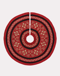 WESTERLEY KNIT TREE SKIRT, RED, large