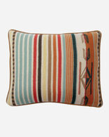 CHIMAYO TOSS PILLOW IN CORAL/AQUA STRIPE
