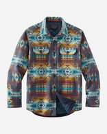 MEN'S JACQUARD QUILTED SHIRT JACKET