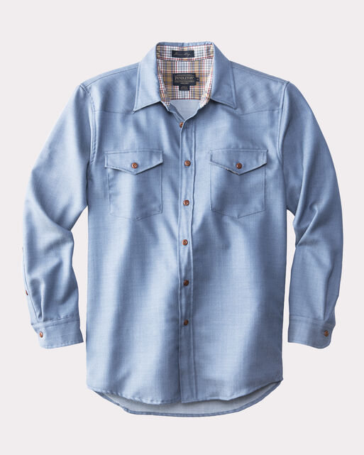 CARSON WOOLDENIM SHIRT, SPRING BLUE, large