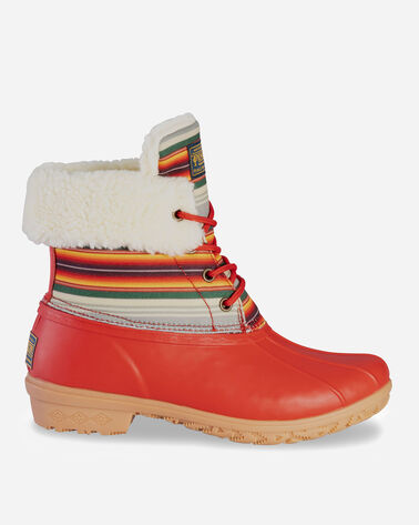 WOMEN'S SERAPE ROLL TOP DUCK BOOTS IN RED
