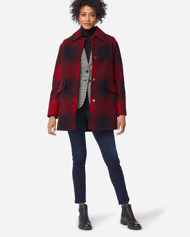 WOMEN'S MERCER ISLAND COAT, RED BUFFALO, large