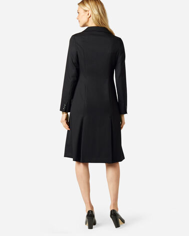 ADDITIONAL VIEW OF SEASONLESS WOOL FLORENCE COAT DRESS IN BLACK
