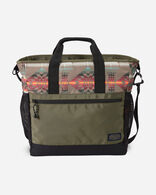 BASKET MAKER CANOPY CANVAS CARRYALL TOTE IN OLIVE