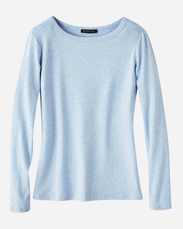 LONG-SLEEVE COTTON RIBBED CREWNECK