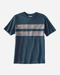 HURLEY X PENDLETON MEN'SSTRIPE PRINT TEE, NAVY BADLANDS, large