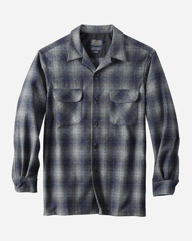 MEN'S BIG BOARD SHIRT, GREY/NAVY OMBRE, large
