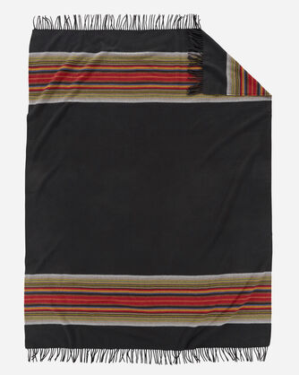 ADDITIONAL VIEW OF 5TH AVENUE ACADIA PARK MERINO THROW IN BLACK