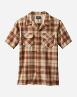MEN'S SHORT-SLEEVE BOARD SHIRT IN TAN/COPPER OMBRE