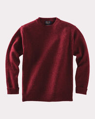 SHETLAND WASHABLE WOOL CREWNECK, SCARLET RED, large