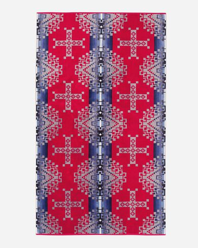 RUBY RIVER SPA TOWEL, RED, large