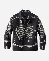 MESA JACQUARD BUTTON FRONT JACKET, BLACK/WHITE, large