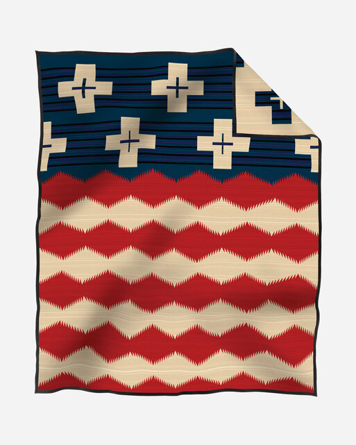 BRAVE STAR BLANKET IN RED/WHITE/BLUE