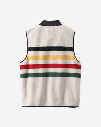 GLACIER PARK STRIPE FLEECE VEST