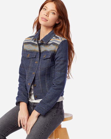 WOMEN'S RYDER WOOL JACKET IN CRESCENT BAY NAVY