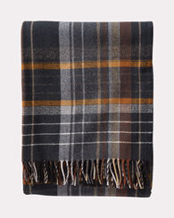 ASHTON PLAID LAMBSWOOL THROW, COAL, large