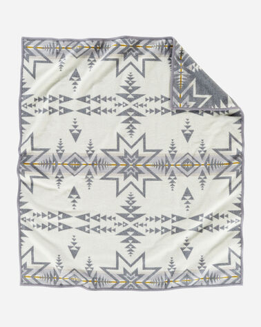 ALTERNATE VIEW OF PLAINS STAR BLANKET IN GREY