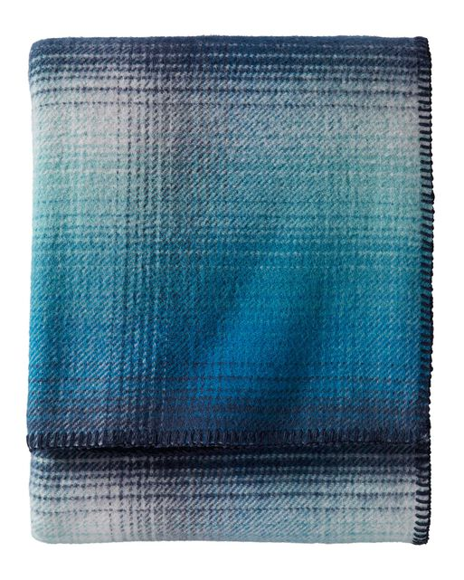 ECO-WISE OMBRE PLAID WOOL BLANKET