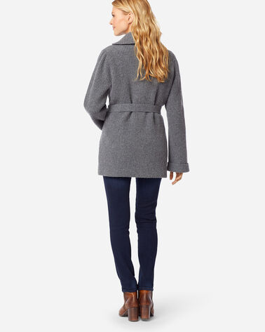 ADDITIONAL VIEW OF WOMEN'S COOS CURRY CARDIGAN IN GREY