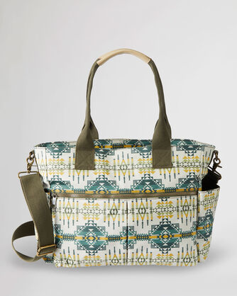 ALTERNATE VIEW OF PILOT ROCK CANOPY CANVAS SUPER TOTE IN OLIVE