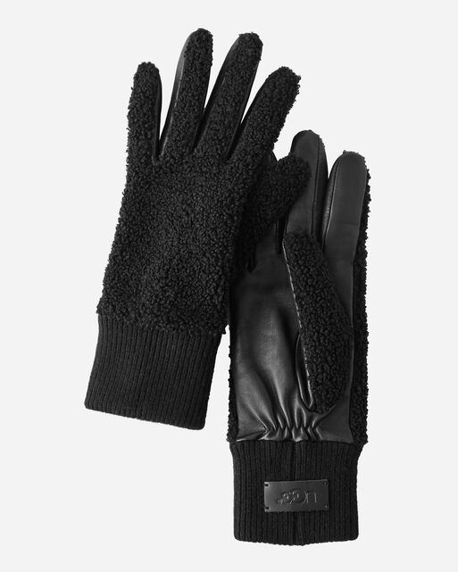 FAUX SHERPA GLOVES, , large