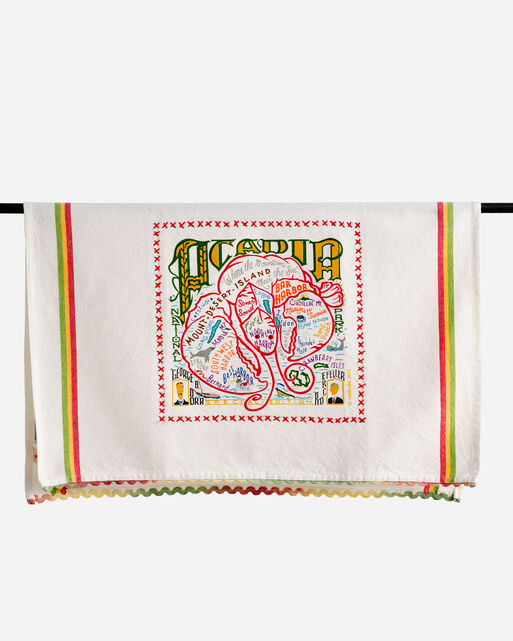 NATIONAL PARK EMBROIDERED DISH TOWELS IN ACADIA