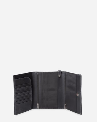 ALTERNATE VIEW OF PLAINS STAR TRIFOLD SMARTPHONE WALLET IN GREY