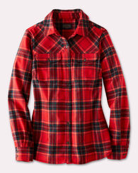 CHRISTINA PLAID SHIRT, RED TARTAN, large