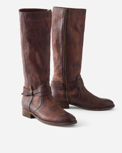 MELISSA BELTED TALL BOOTS, REDWOOD, large