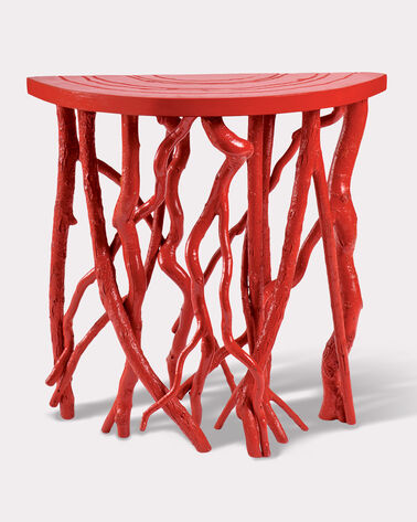DEMI LUNE TABLE, RED, large