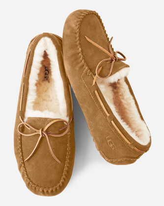OLSEN SUEDE MOCCASIN SLIPPERS, , large