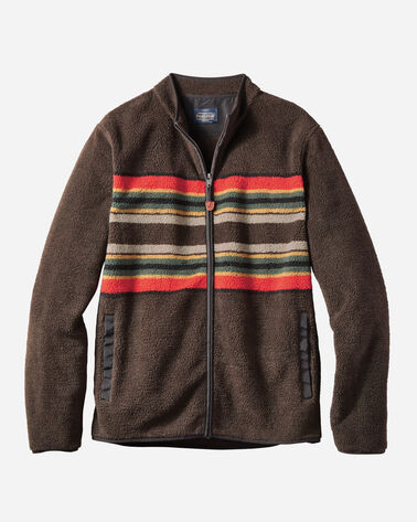 MEN'S CAMP STRIPE ZIP-FRONT IN BROWN