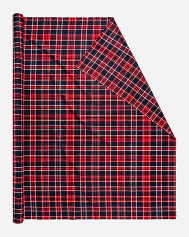 UMATILLA PLAID FABRIC, NAVY/RED, large