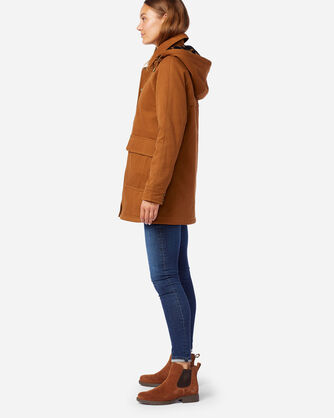 ALTERNATE VIEW OF WOMEN'S ST HELENA SHERPA-LINED COAT IN WHISKEY