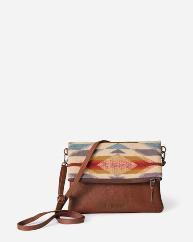 WYETH TRAIL FOLDOVER CLUTCH IN IVORY