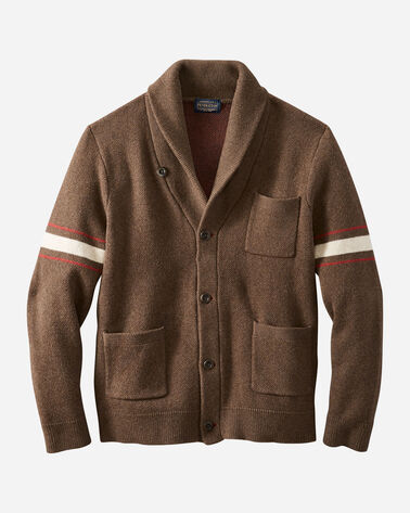 MEN'S ARCHIVE COTTON CARDIGAN IN BROWN