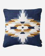 CHIEF STAR PRINTED KILIM SQUARE PILLOW IN NAVY