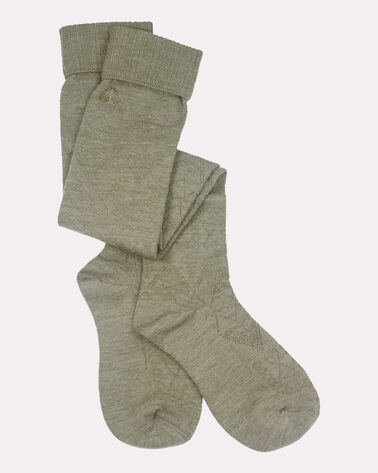 ARROW REVIVAL OVER THE KNEE SOCKS, GREEN, large