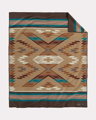ROSELYN BEGAY WEAVERS SERIES BLANKET, BROWN, large