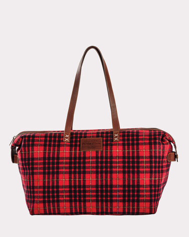 TARTAN RELAXED GYM BAG